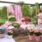 Hortensia in je bloempot op terras of balkon