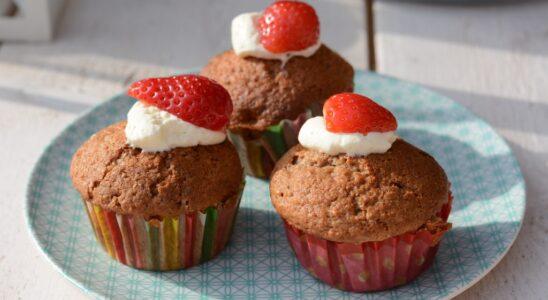 aardbeien cupcakes