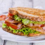Blt sandwich. Bacon, lettuce, tomato sandwich
